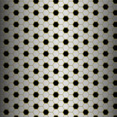 Brushed alloy honeycomb tiles texture on brass grid with vertical highlight - perfect for 3D modeling and rendering — Stock Photo