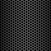 Brushed alloy honeycomb cooling grid texture with vertical highlight, isolated on black - perfect for 3D modeling and rendering — Stock Photo