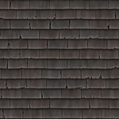 Roof section with cracking shingles - seamless texture perfect for 3D modeling and rendering — Stock Photo