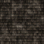 屋顶部分与老化木瓦-无缝完美的 3d 建模和渲染的纹理 — 图库照片