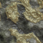 Realistic raw gold ore inclusions in volcanic rock - seamless texture perfect for 3D modeling and rendering — Stock Photo