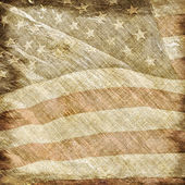 Old and worn vintage parchment with a filigree of the American flag. Perfect for scrap-booking presentation of patriotic and historical photos. — Stock Photo