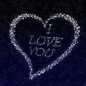 A love declaration written in the stars — Stock Photo