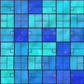 Blue ceramic tile mosaic (typical in swimming pools) - seamless texture perfect for 3D modeling and rendering — Stock Photo