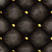 Luxurious old leather chair background with cracked, aged leather and rusty and corroded brass buttons - seamless texture perfect for 3D modeling and rendering — Stock Photo