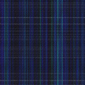 Weaved blue cotton with tartan-like square patterns seamless texture perfect for 3D modeling and rendering — Stock Photo