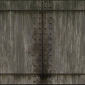 Old grungy brushed steel wall tiles with bolts background seamless texture perfect for 3D modeling and rendering — Zdjęcie stockowe