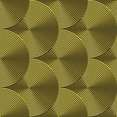 Grooved brass plate with circular swirls - seamless texture perfect for 3D modeling and rendering — Stock Photo