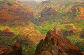 Stunning aerial view into Waimea Canyon, Kauai, Hawaii — Stock Photo