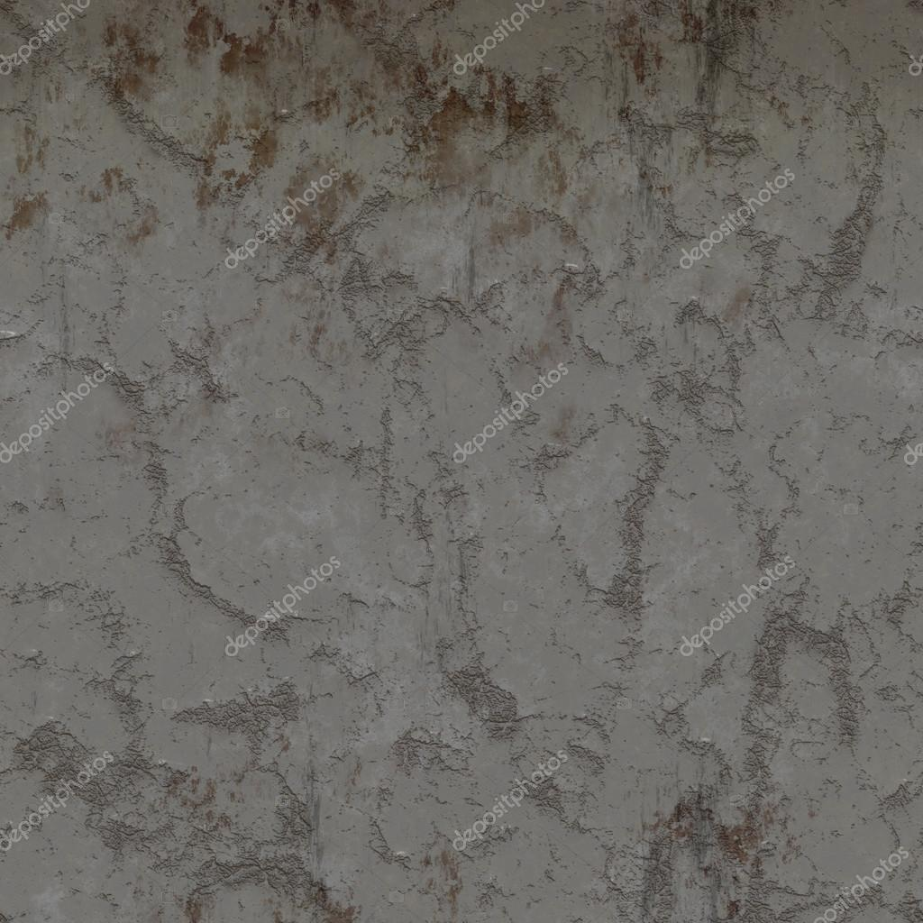 Rust Cement Wall : A grungy cracked and weather concrete wall with rust