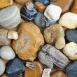 Abstract background is from river stones — Stock Photo