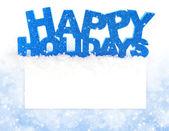 επιγραφή του καλές διακοπές είναι με το χιόνι στις θητεύσει ταχυδρομική με χώρο για κείμενο — Φωτογραφία Αρχείου