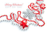 Christmas decorations are on a white background — Stock Photo