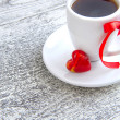 Coffee is done with love for sweet one — Stock Photo