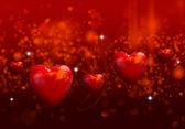 Valentine srdce pozadí — Stock fotografie