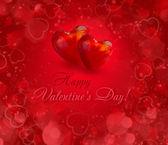 Fundo de corações dos namorados — Fotografia Stock