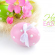 Colorful easter eggs on a white background — Stock Photo #22085739