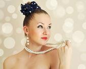 Photo de belle jeune femme. style vintage — Photo