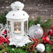 Stock Photo: Christmas composition with lantern