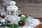 Weihnachten-komposition mit laterne — Stockfoto