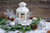 Christmas composition with lantern — Стоковое фото