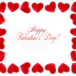 Red Hearts On White Background For Valentines Day, Valentines Card, Love — Stock Photo