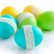 Colorful Easter Eggs isolated over white background — Stock Photo #42703477