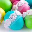 Colorful Easter Eggs isolated over white background — Stock Photo #43198087