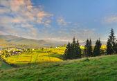 Fantastic morning mountain landscape. Carpathian, Ukraine, Europe. — Stock Photo