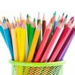 Various colour pencils isolated on the white — Stock Photo #51423557