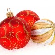Stock Photo: Christmas balls isolated on the white