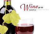 Wine bottle and glass — Zdjęcie stockowe