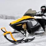 Man on snowmobile — Stock Photo #20693013