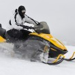 Man on snowmobile — Stock Photo #21781817
