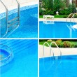 Swimming pool collage — Stock Photo #22345997