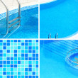 Swimming pool collage — Stock Photo #22346007