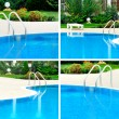 Stock Photo: Swimming pool collage