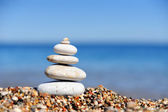 Stack of pebbles — Stock Photo