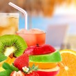 Fruit mix and cocktail — Foto Stock