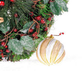 Christmas festive decoration — Stock Photo