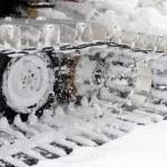 Closeup shot of snowplow used — Stock Photo #37326937