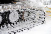 Closeup shot of snowplow used — Stock Photo