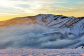 Beautiful sunset in winter mountain — Photo