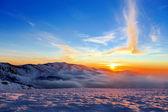 Vinter mountain — Stockfoto