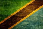 Grunge flagga tanzania — Stockfoto