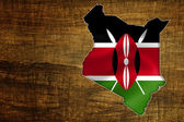 Kenya Map Design — Stock Photo