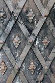 Stare drzwi metalowe i zardzewiały — Zdjęcie stockowe