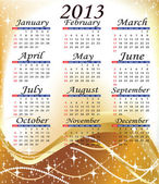A calendar for all year — Stock Photo