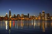 Chicago Skyline at dusk — Stok fotoğraf