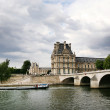 Seine river with the Louvre Museum — Stock Photo
